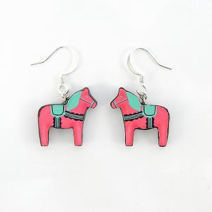 Pink and Green Swedish Dala Horse E..