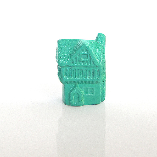 Mini Turquoise Green Half-Timbered House
