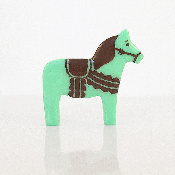 Mint Chocolate Chip Ice Cream Clay Pony Dala Horse Figurine