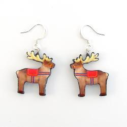 Polymer Clay Lapland Reindeer Earrings